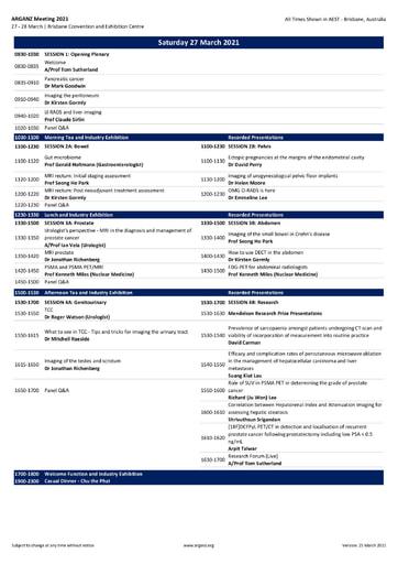 ARGANZ 2021 Program