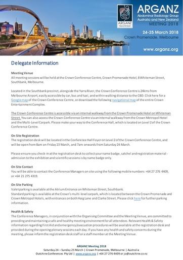 Delegate Information   Onsite