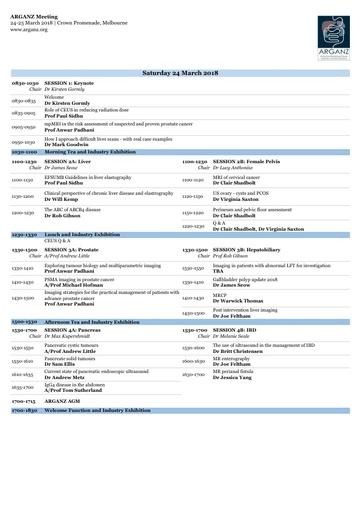 ARGANZ 2018 Program