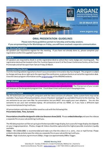 ARGANZ 2018   Oral Presentation Guidelines